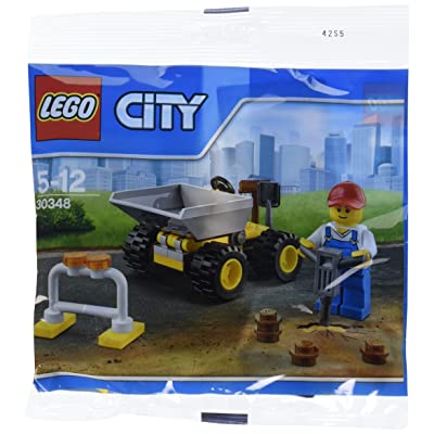 LEGO City Mini Dump Truck Vehicle and Construction Worker Minifigure Toy Set 30348 (Bagged): Toys & Games