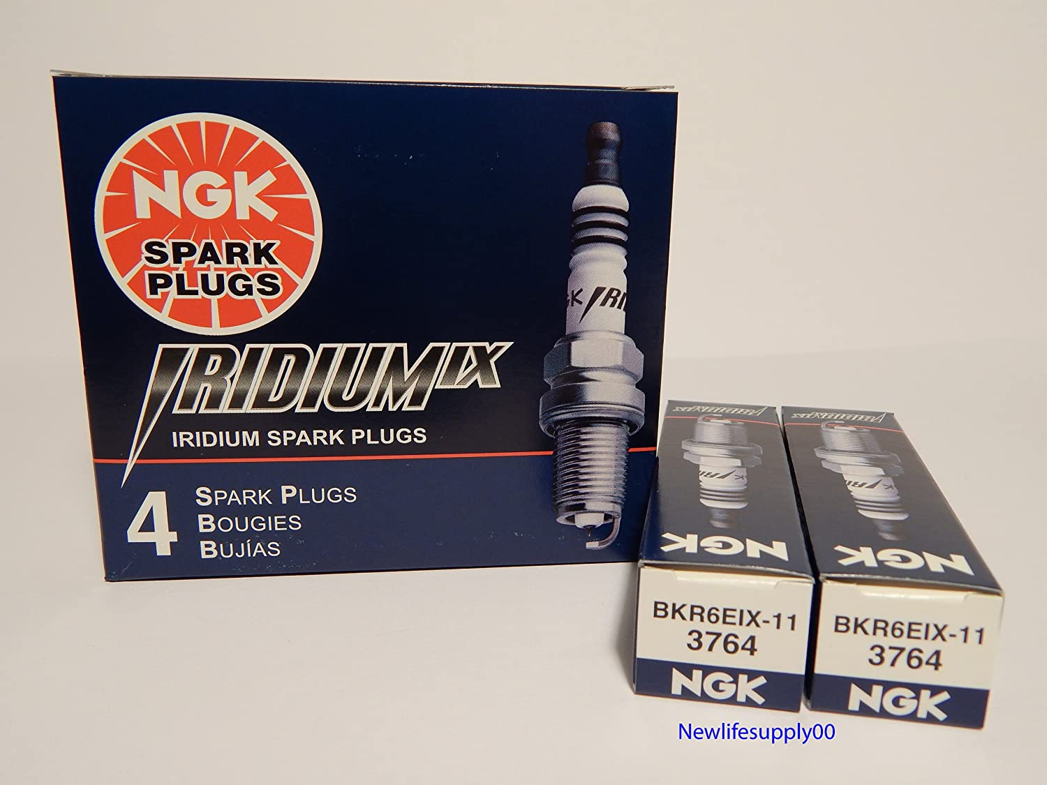 Amazon.com: NGK 3764 Iridium Spark Plug BKR6EIX-11 - 6 PCS *NEW*: Automotive