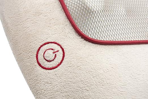 Ecomed MC-81E Cojín de masaje shiatsu, con función calor, 4 ...
