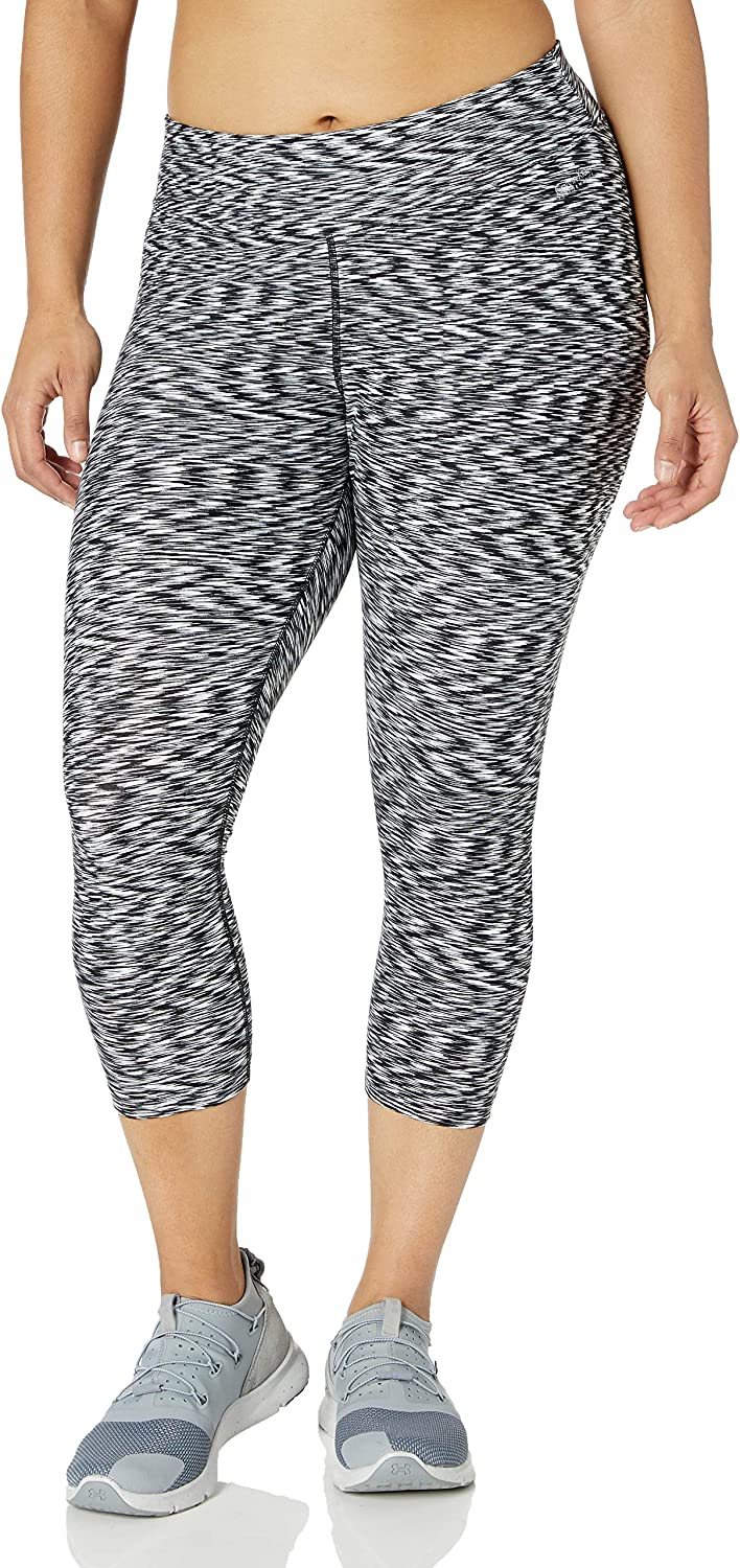 Calvin Klein Women's Size Plus Space Dye Print Crop Legging