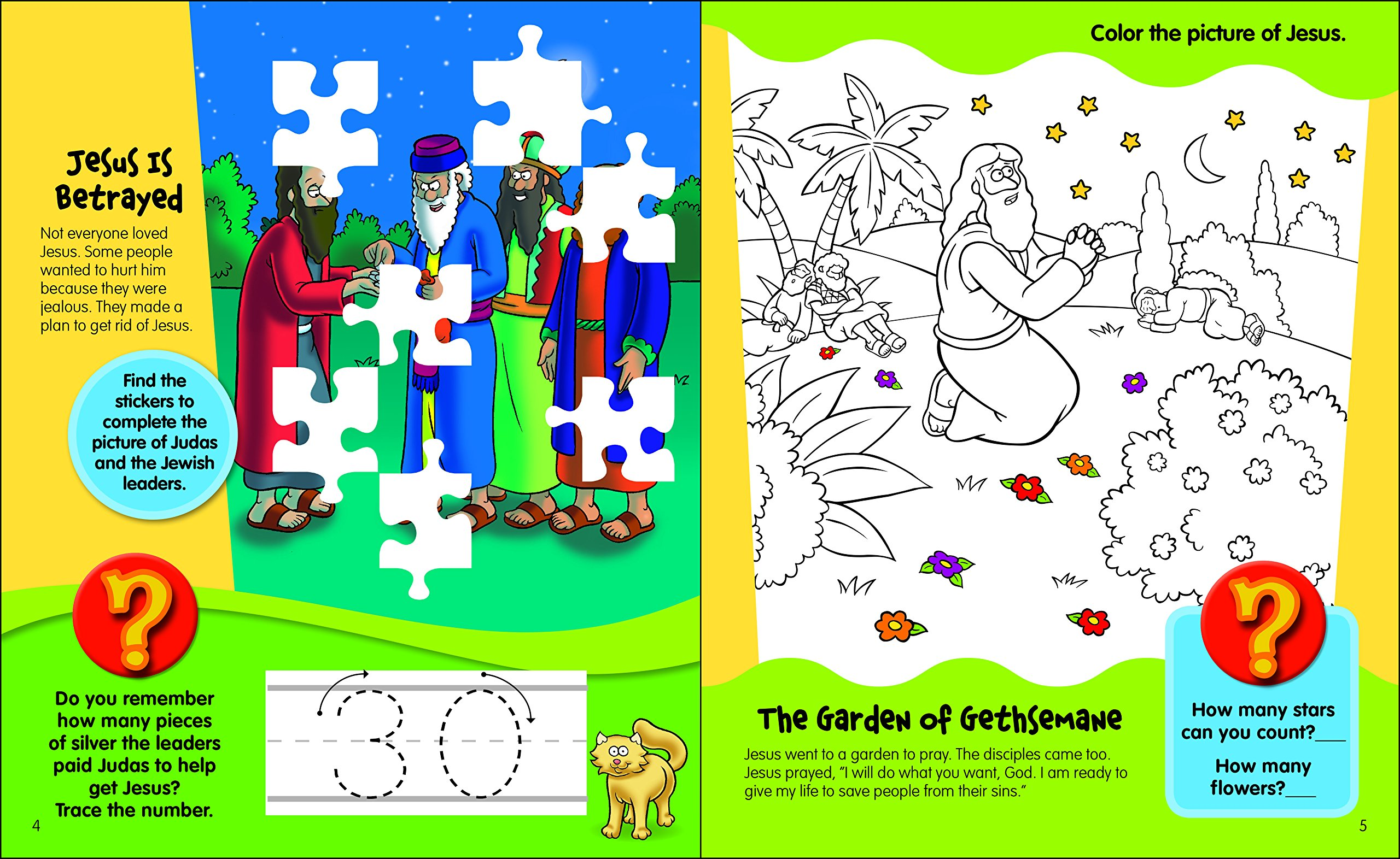 Amazon.com: The Beginner\'s Bible Come Celebrate Easter Sticker and ...