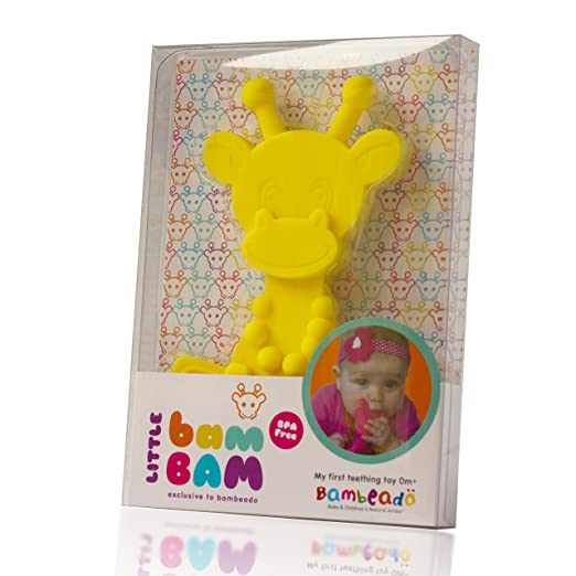 ... 2018 sneakers 2c2f2 b7aa4 Amazon.com Baby Teething Toy Extraordinaire -  Little bamBAM Giraffe Teether ... 27e57a0e29