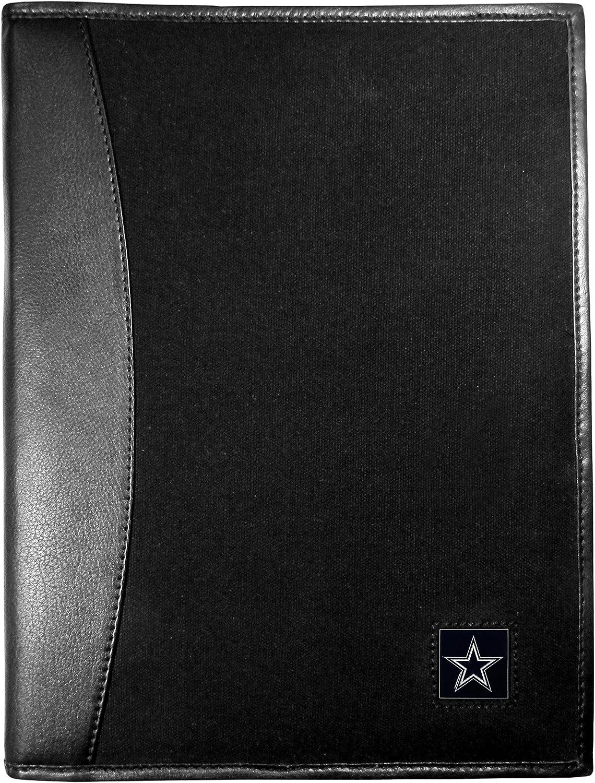 NFL Dallas Cowboys Leather & Canvas Padfolio, Black