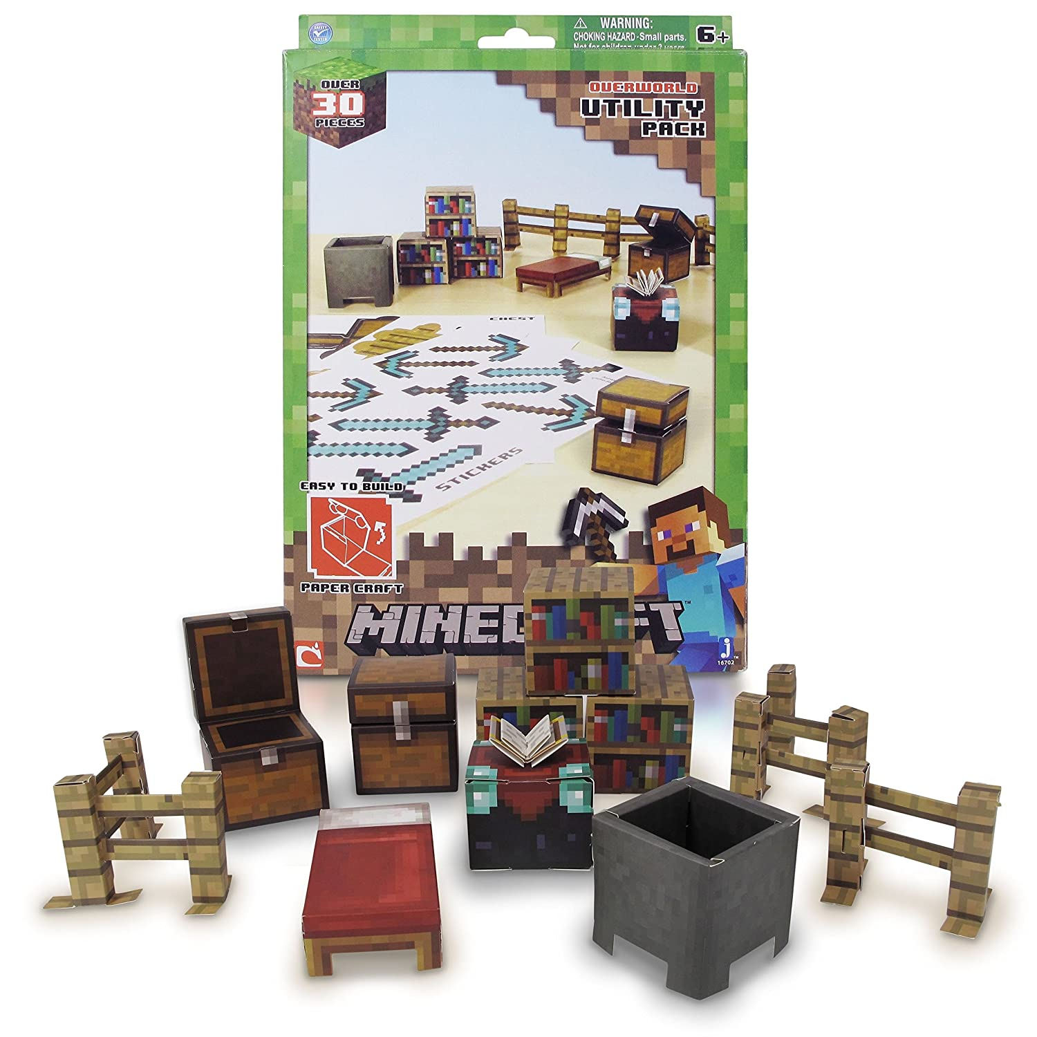 Minecraft Papercraft Utility Pack Over 30 Pieces