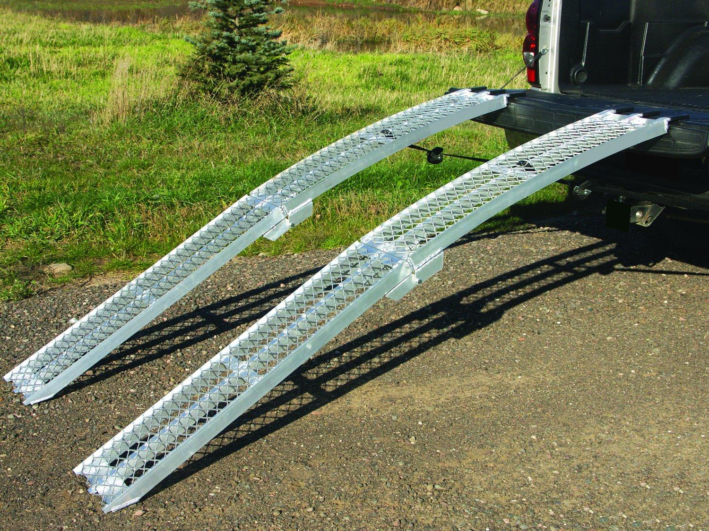 Motorcycle Loading Arch Ramps UTV//ATV Yutrax 89-inch Folding Aluminum Truck Pair 1500lb Capacity
