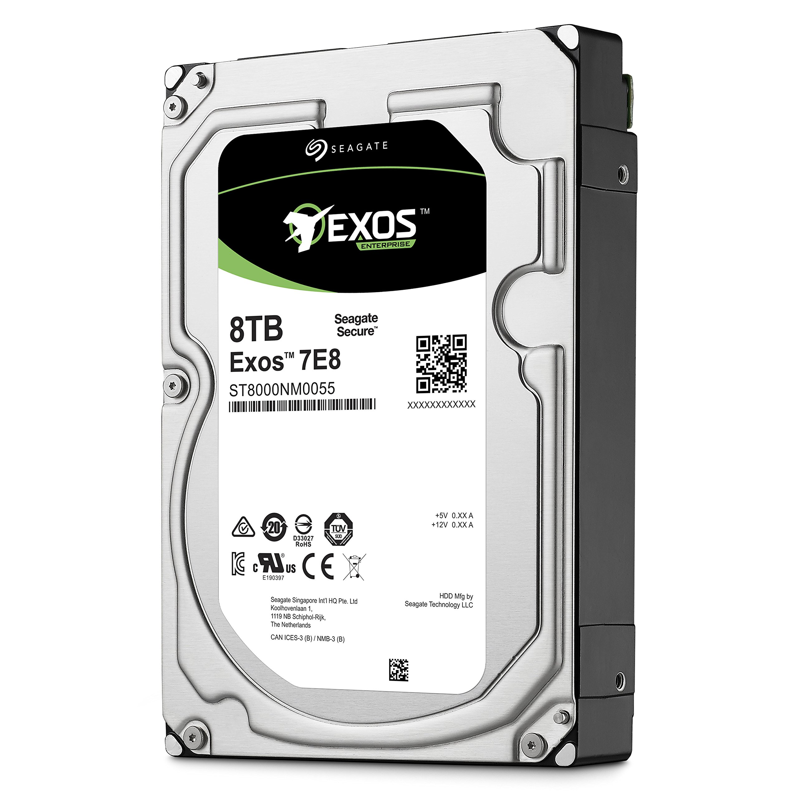Seagate 8TB Enterprise Capacity 3.5 HDD 7200RPM SATA 6Gbps 256 MB Cache Internal Bare Drive (ST8000NM0055) by Seagate