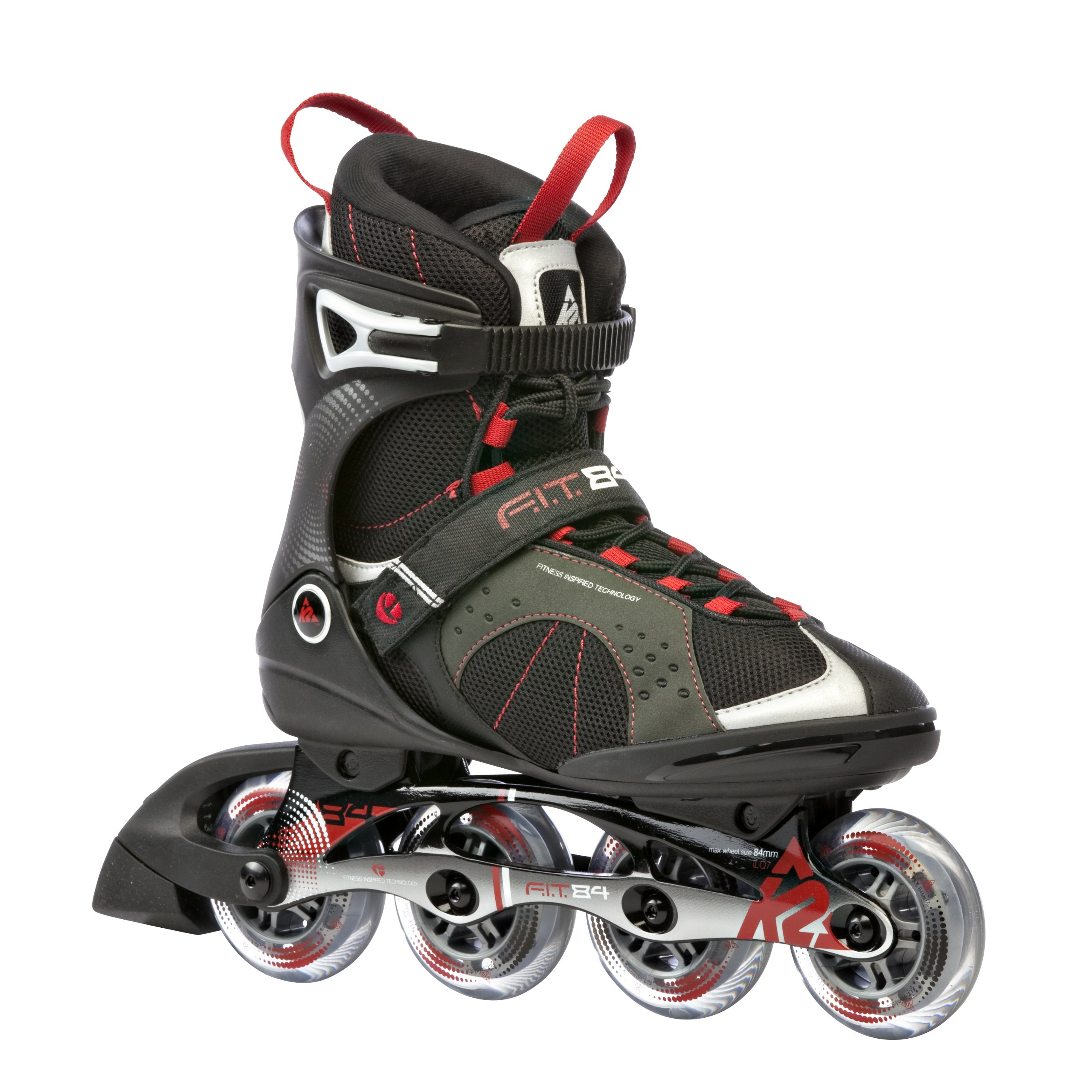 K2 Sports Men's F.I.T. 84 Fitness 2012 Inline Skates (Black/Red, 9) by K2