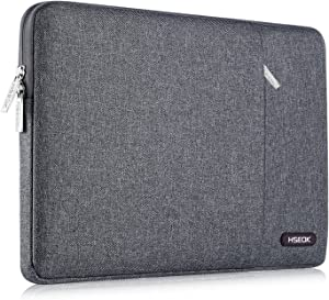 HSEOK 15.6-Inch Laptop Case Sleeve, Compatible with Most 15.6-Inch Laptop Notebook Dell Asus Lenovo HP, Environmental-Friendly Spill-Resistant Case, Linen Gray