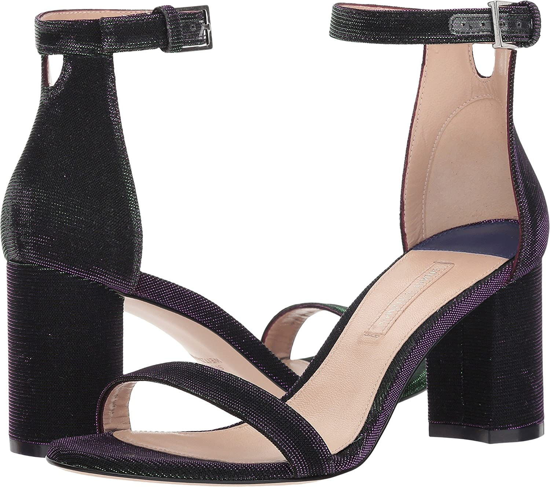 Majestic Purple Nighttime Stuart Weitzman Womens Leather Open Toe Casual Ankle Strap Sandals