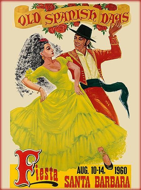 Santa Barbara American Riviera Vintage Advertising Poster Canvas Art Print