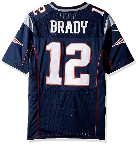 Camiseta de fútbol americano de Tom Brady en color azul marino de los New England Patriots de la marca Nike, azul marino, medium: Amazon.es: Deportes y aire ...