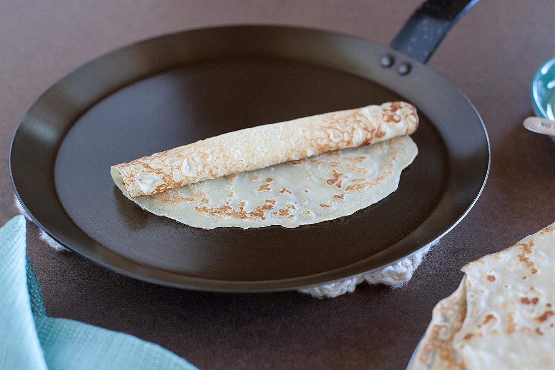 Paderno World Cuisine de acero al carbono sartén para crepes sartenes: Amazon.es: Hogar