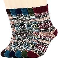 Fixget Calcetines Invierno Mujer, 6 Pares Calcetines Termicos Mujer, Lana Calcetines para Hombres y Mujeres de Punto de…