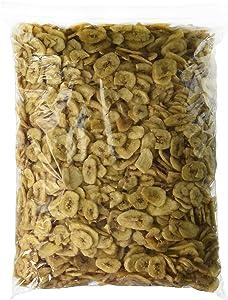 Green Bulk Sweetened Banana Chips Dried 5 lbs