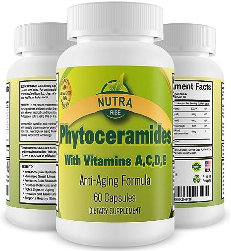 Phytoceramides, Éxito en ventas, Vitaminas rejuvenecedoras para el cuidado de la piel, 40mg