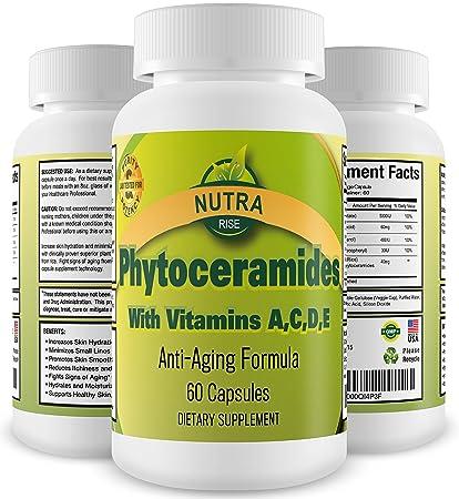 Phytoceramides, Éxito en ventas, Vitaminas rejuvenecedoras para el cuidado de la piel, 40mg Ceramides derivados de ...