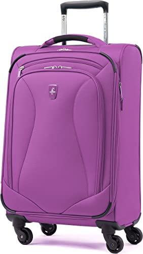 Atlantic Luggage Atlantic Ultra Lite Softsides Carry-on Exp. Spinner, bright violet