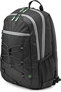 HP 15-inch Laptop Sport Backpack (Black/Green)