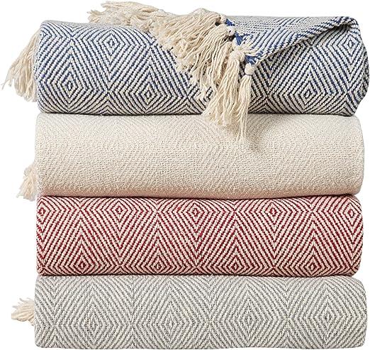 EHC - Manta para sofá (algodón, 125 x 150 cm), Color Gris, algodón ...