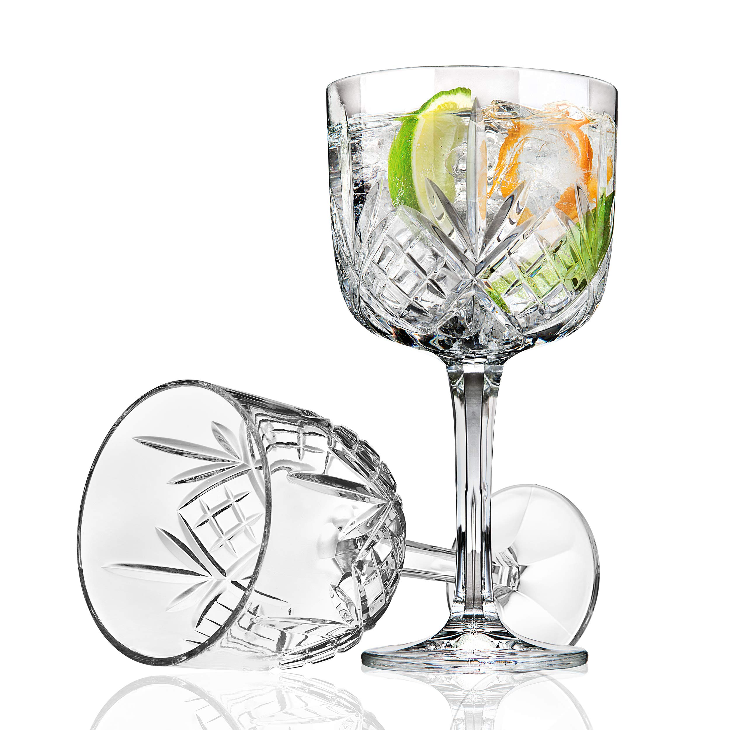 Godinger Gin Cocktail Coupe Goblet Glass - Dublin Collection, Set of 4