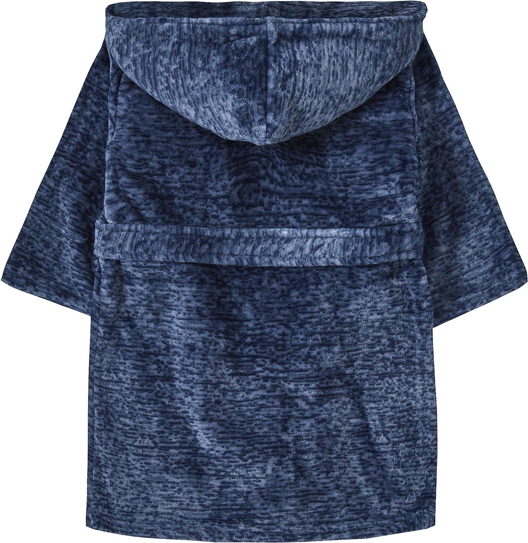 Minikidz Childrens Kids Boys Dressing Gown Robes Super Soft Snuggle Hooded
