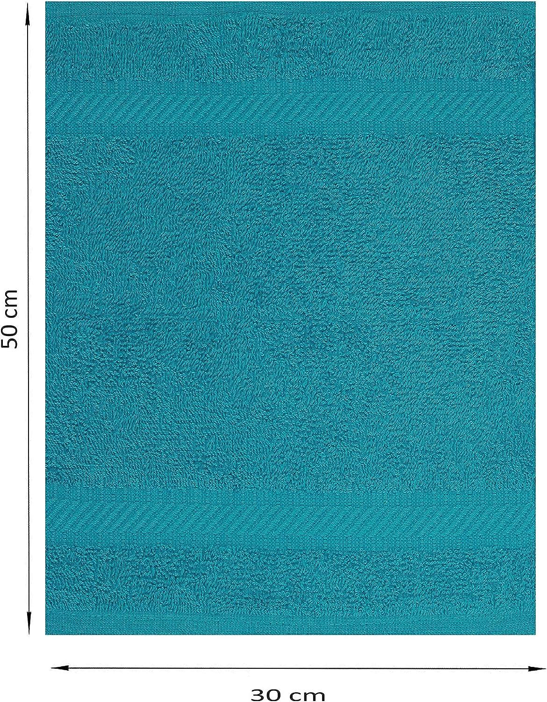 Betz 12 St/ück G/ästehandt/ücher Palermo 100/% Baumwolle Gr/ö/ße 30x50 cm Cranberry Petrol