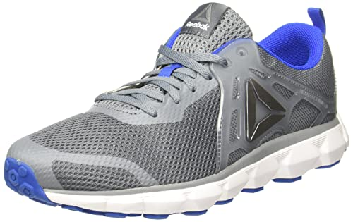 b65d38e7ad548f Reebok Men s Hexaffect Run 5.0 MTM Dust Blue White Alloy Running Shoes -