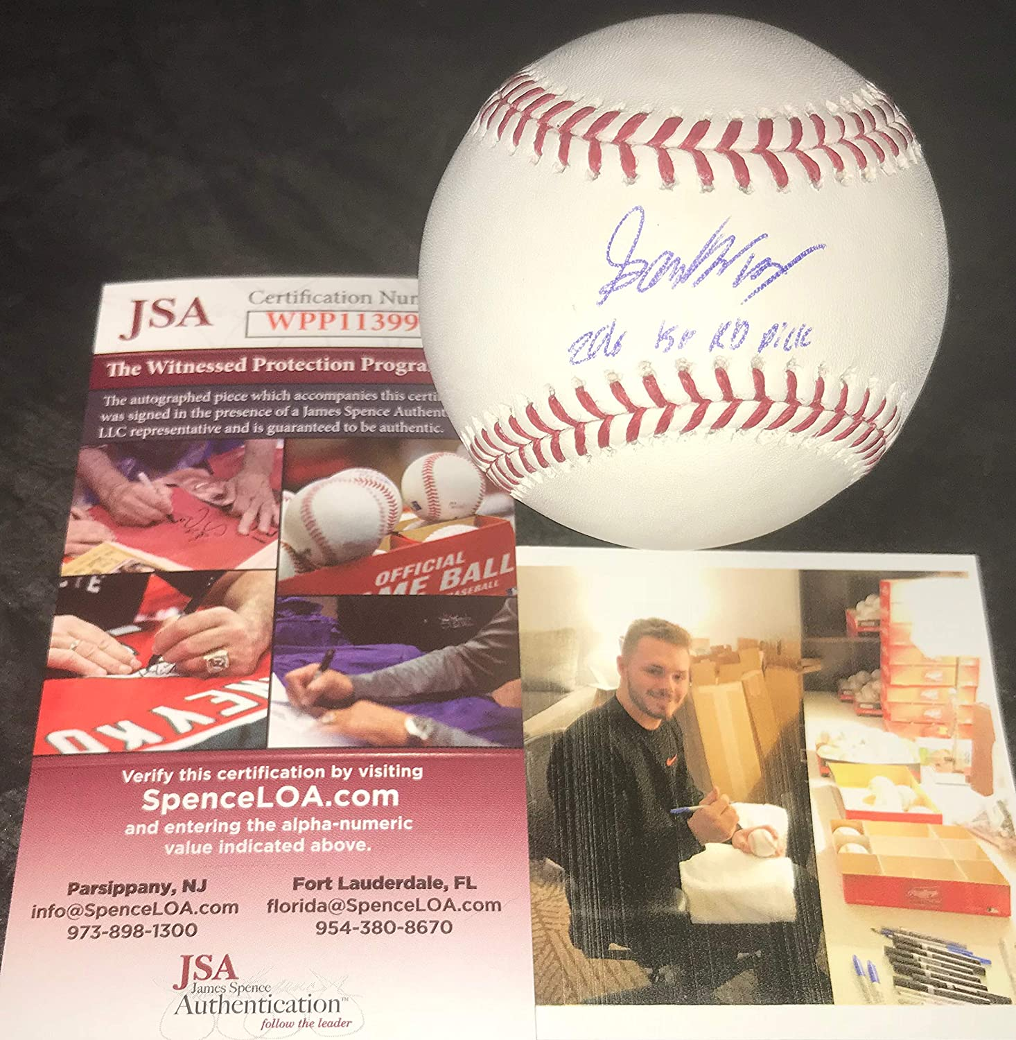 Gavin Lux Los Angeles Dodgers Autographed Signed Official Major League Baseball JSA WITNESS COA 2016 1st Rd Pick SidsGraphs