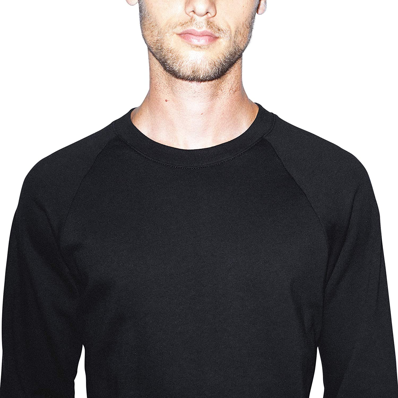 American Apparel Mens California Fleece Long Sleeve Raglan Sweatshirt