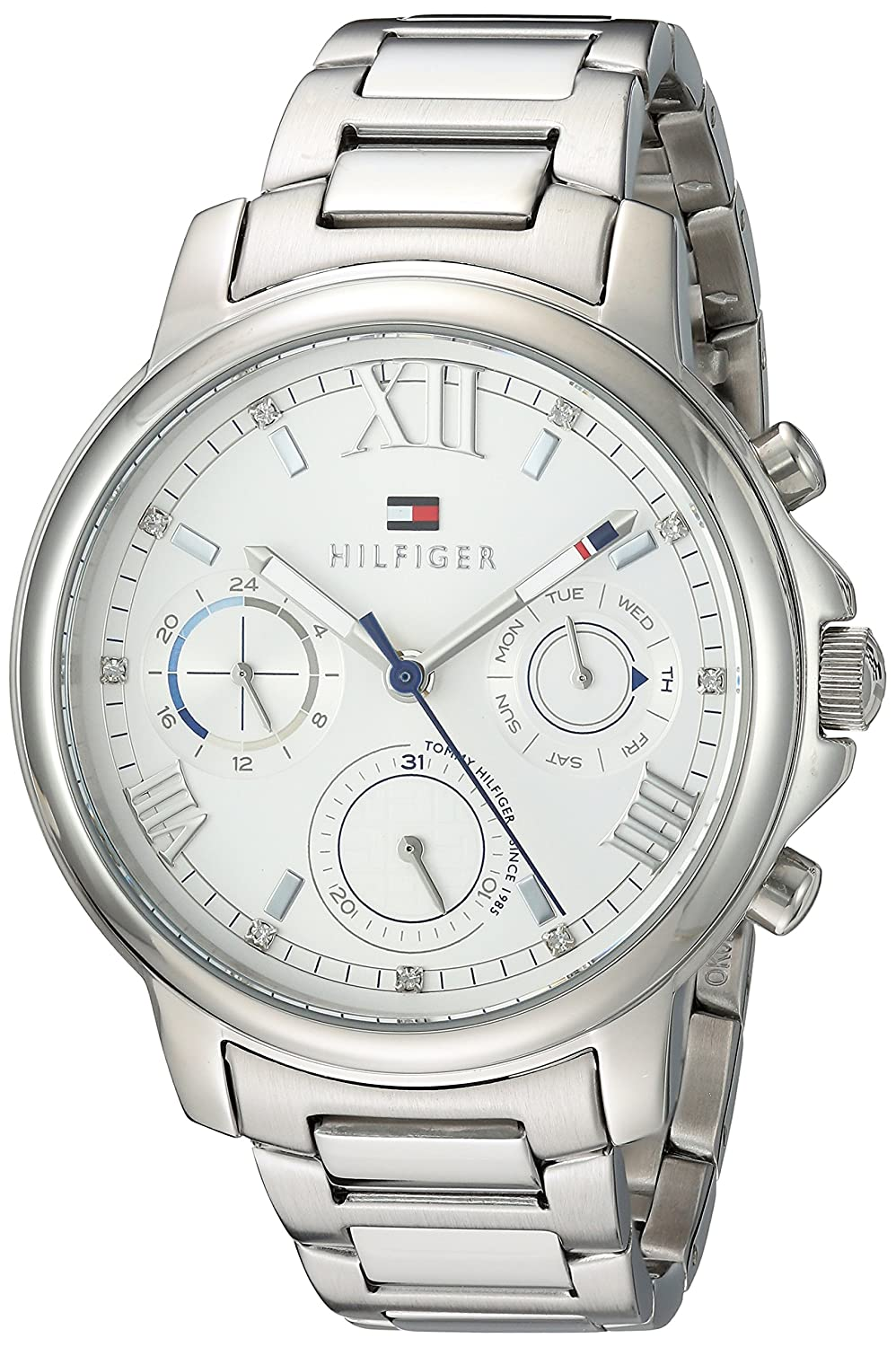 Tommy Hilfiger Women s Casual Quartz Watch with Stainless-Steel Strap, Tone, 16 Model 1781741