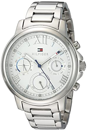 93874e10 Image Unavailable. Image not available for. Color: Tommy Hilfiger Women's ' CLAUDIA' Quartz Stainless Steel Casual Watch ...