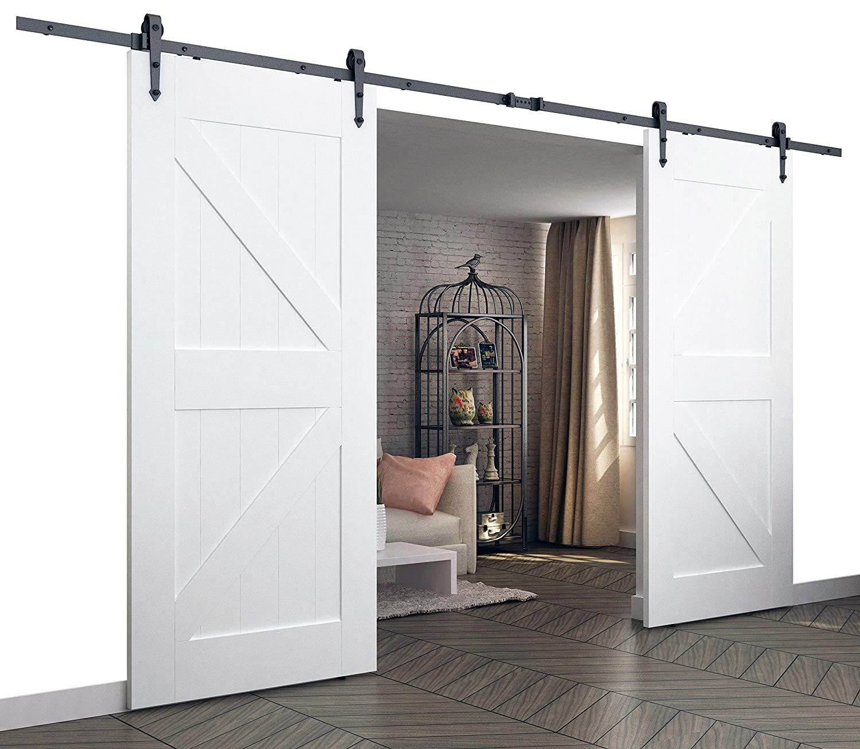 Diyhd 10ft Arrow Style Double Sliding Barn Door Hardware Bi Parting