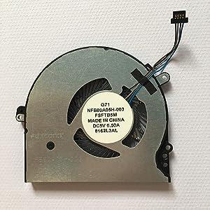 HK-Part Replacement Fan for HP Pavilion 15-CC 15-CC700 15T-CC000 15-CC708TX 15-CC715TX TPN-Q191 14-BK CPU Cooling Fan 927918-001 NFB80A05H-003 FSFTB5M