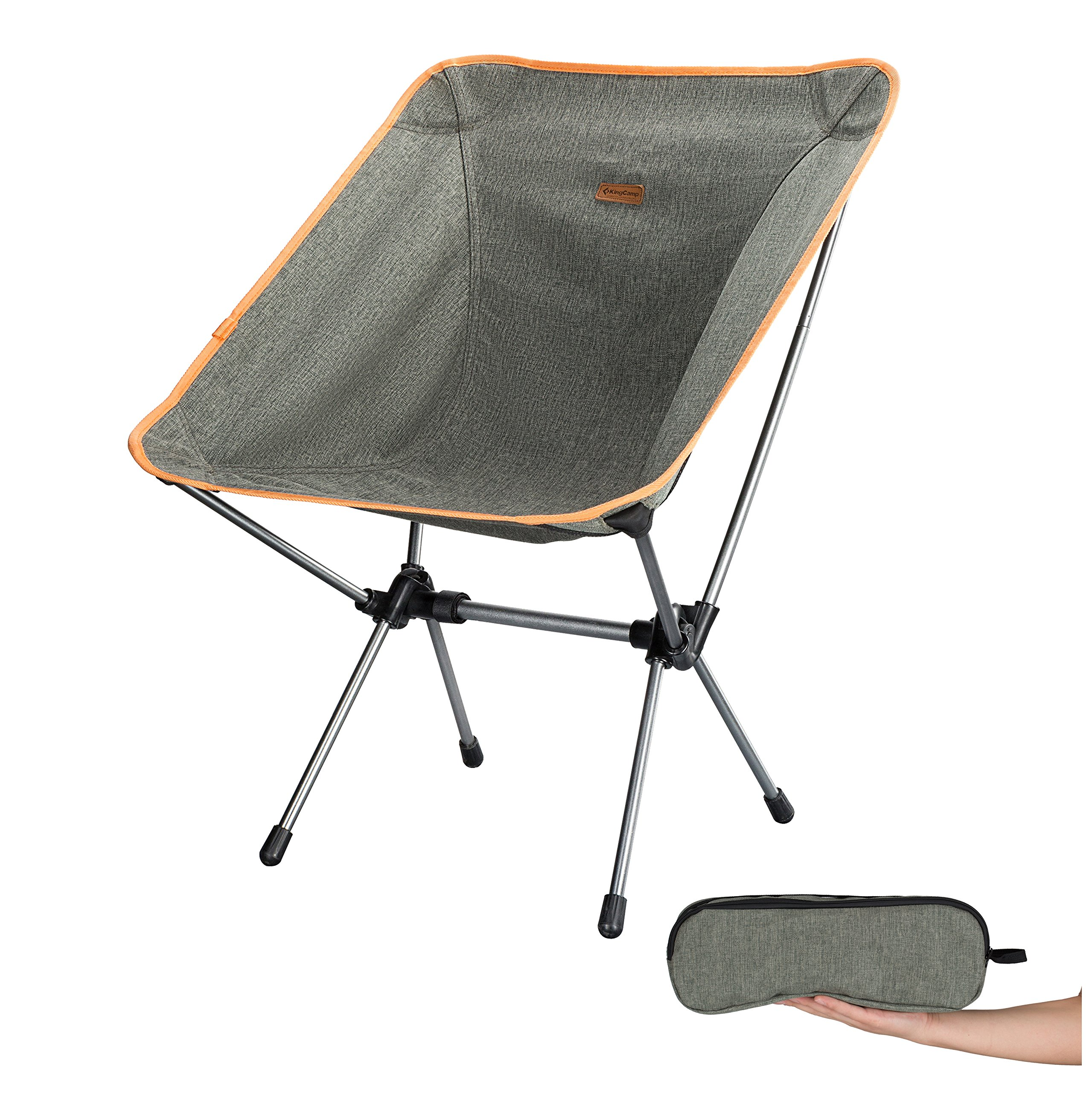 KingCamp Portable Camping Beach Folding Chair Compact Ultralight & 1200D Oxford Heavy Duty Chair 300lbs Weight Capacity, Backpacking Camping Chairs for Hiking, Beach, Concerts, Fishing, Outdoor. by KingCamp