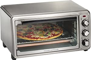 Hamilton Beach 6-Slice Countertop Toaster Oven with Bake Pan, Stainless Steel (31411)