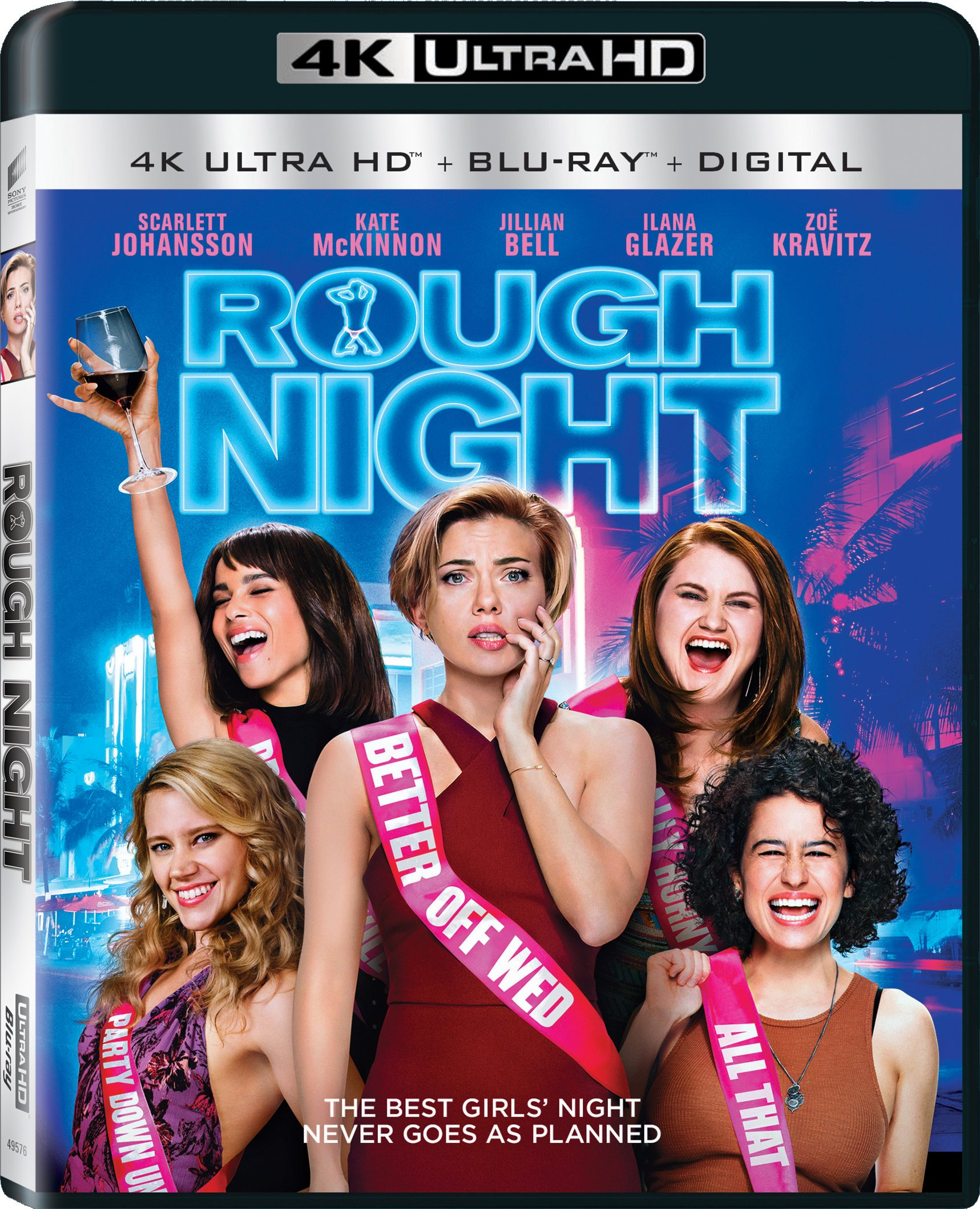 4K Blu-ray : Rough Night (With Blu-Ray, Ultraviolet Digital Copy, 4K Mastering, Widescreen, )