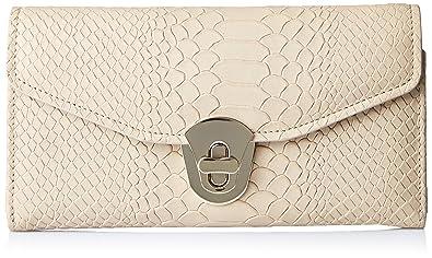 Aquatan Women's Diva Croco Leather Wallet Camel AT-W-50B