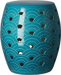 Emissary Home & Garden Wave Stool Turquoise
