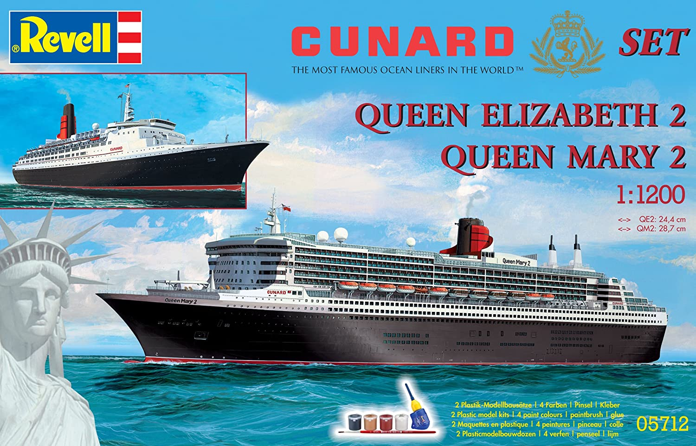 Revell Cunard Line Ship Plastic Model Gift Set Amazoncouk Toys - Cruise ship model kits