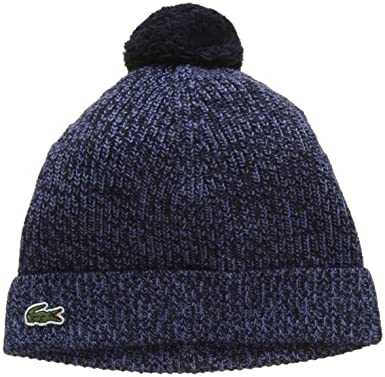 5b1603eeb9 Lacoste RB8941 Bonnet Bleu (Marine/Plongeon), Small (Taille Fabricant : S