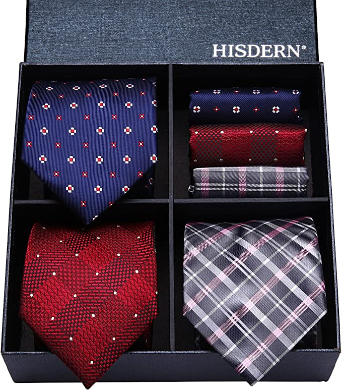 HISDERN Lote 3 PCS Set de corbata para hombre Banquete de boda de ...