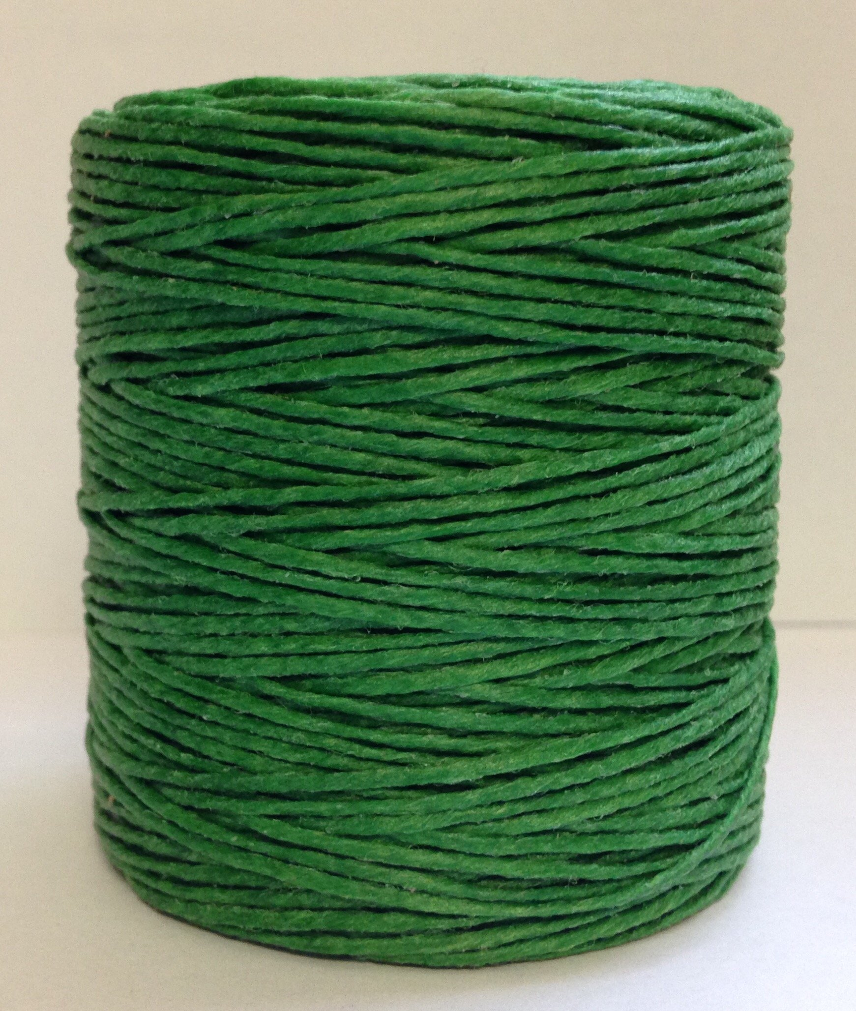Maine Thread - .040'' Kelly Green Waxed Polycord. 210 feet each. Includes 2 spools. by Maine Thread