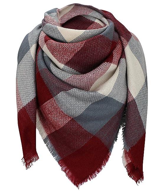 excepcional gama de estilos y colores nueva lanzamiento último estilo de 2019 Bufanda de invierno XXL – de cuadros – doble bufanda