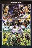 Star Wars sellos - Star Wars Return of the Jedi - 9 sellos. Menta y sheetlet sello sin montar