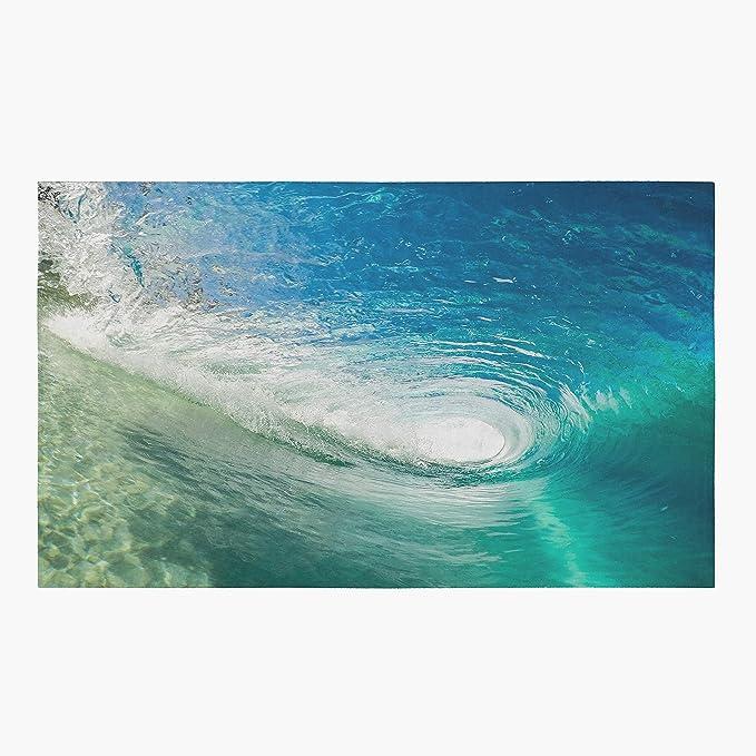 Wave Tube Rug Ocean Rug Beach Rug Water Floor Rug Surfers Rugs 3x5 4x6 5x8 Large Surfing Rugs Beach Decor Blue Rugs Tropical Standard Area Rug 3 X 5 Kitchen Dining Amazon Com