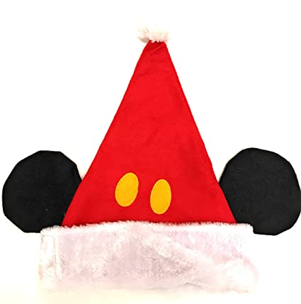 f9231d08977a0 Image Unavailable. Image not available for. Color  Ruz Disney Mickey Mouse  Childs Plush Red Santa Hat With Ears