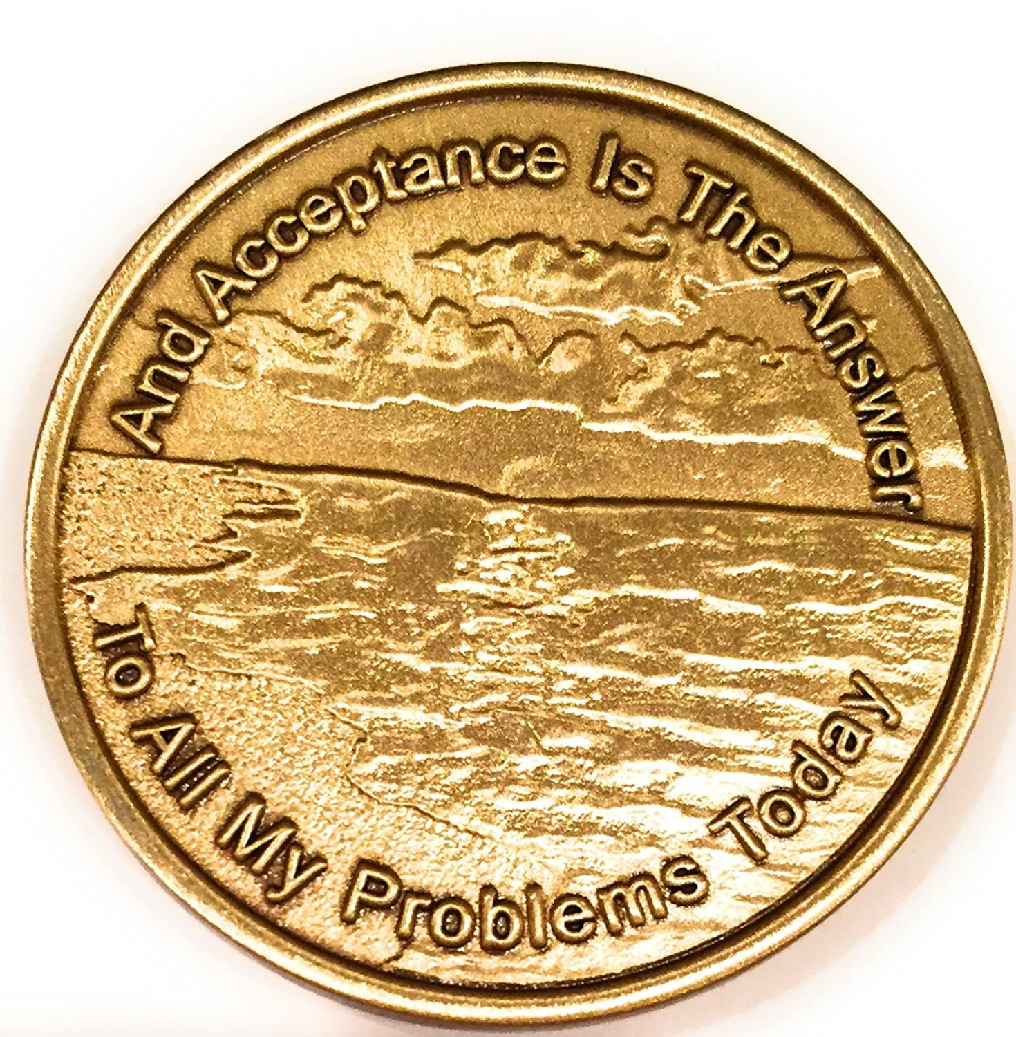 Acceptance Is The Answer Beach Sunrise Bronze AA Medallion Chip Page 449 417 Recoverychip
