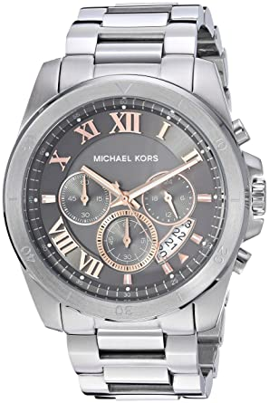 af62f98add0d Image Unavailable. Image not available for. Color  Michael Kors Men s  Brecken Analog-Quartz Watch with Stainless-Steel ...