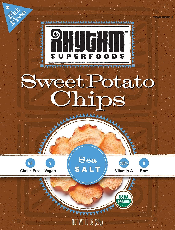 Amazon.com: Rhythm Superfoods Sea Salt Sweet Potato Chips, 1-Ounce ...