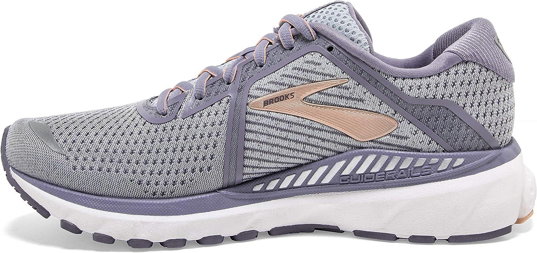 Brooks Glycerin 17, Chaussures De Running Femme Gris Pêche Pâle Blanc